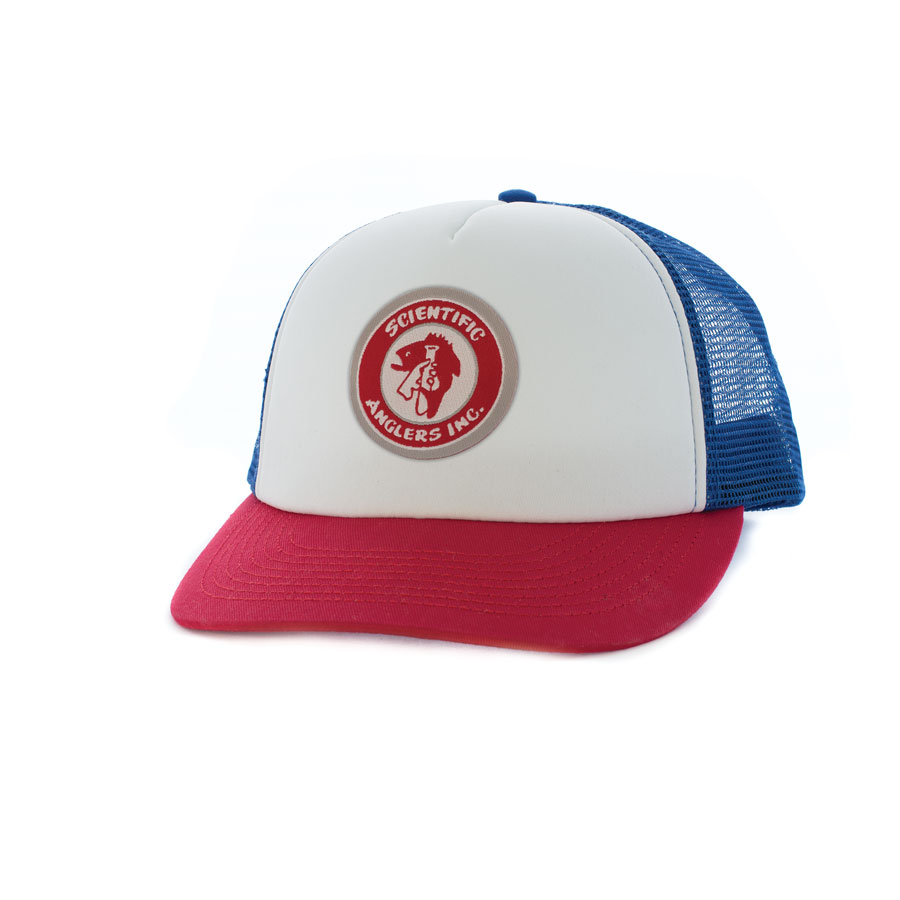 Vintage Logo Foam Trucker - Red White Blue cf437aa28f0